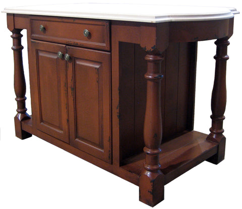 British Traditions Shrewsbury 5' Kitchen Island w/butcher block  #415