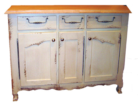 Kitchen Island - British Traditions Cassis 4' Kitchen Island w/3 drawers & 3 doors - Rustic Edge