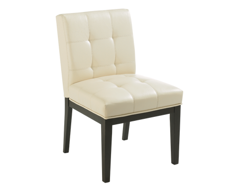 FREDRIK DINING CHAIR CREAM LEATHER