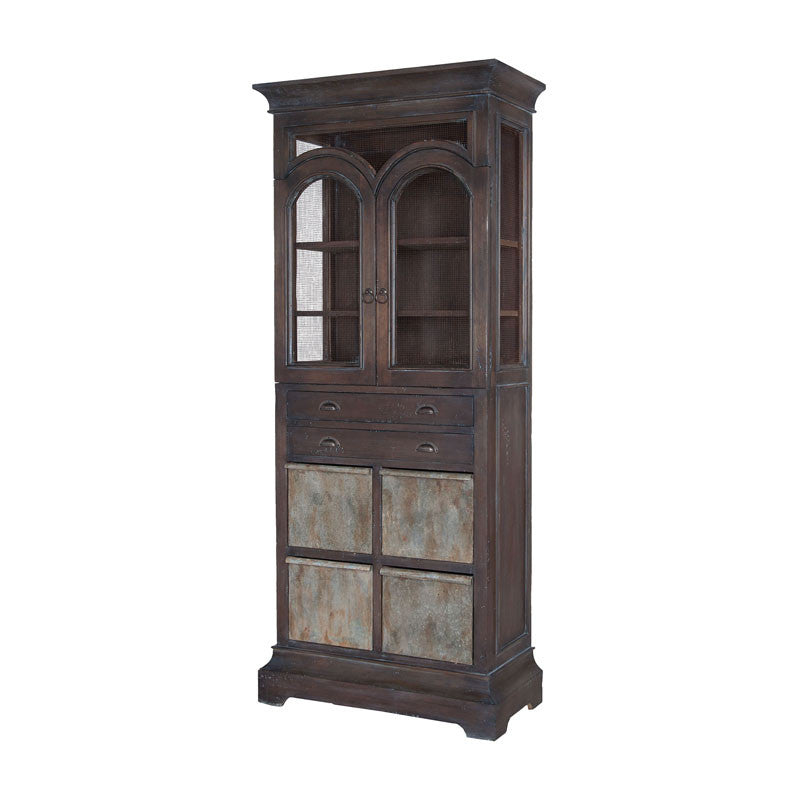 Guild Master 605035HGS-1 Farmhouse Kitchen Display Cabinet