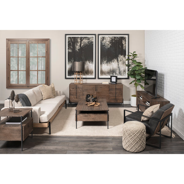 Glennard Contemporary Industrial Coffee Table