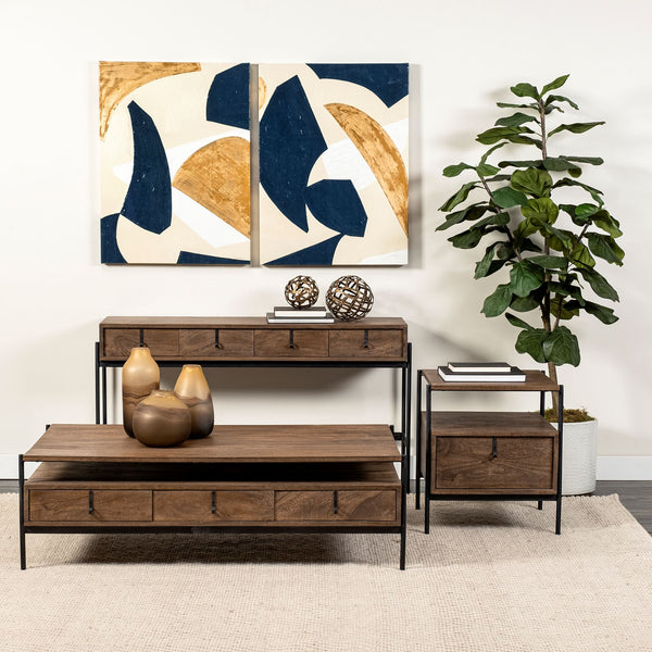 Glennard Contemporary Industrial Console Table