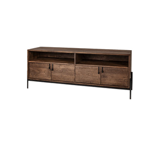 Glennard Contemporary Industrial Media Console
