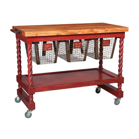 Guild Master 713557 Rolling Butcher Block with Casters