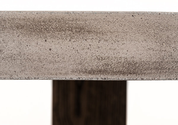 Bundy Concrete & Acacia Dining Table - Rustic Edge