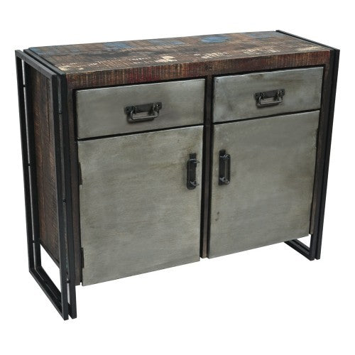 Abran 2 Door 2 Drawer Industrial Sideboard/Buffet - Rustic Edge