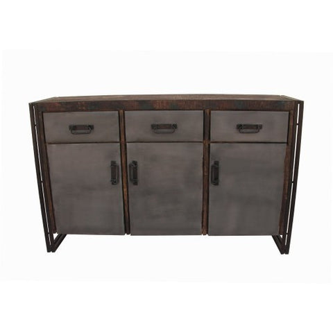 Abran 3 Door 3 Drawer Industrial Sideboard/Buffet - Rustic Edge