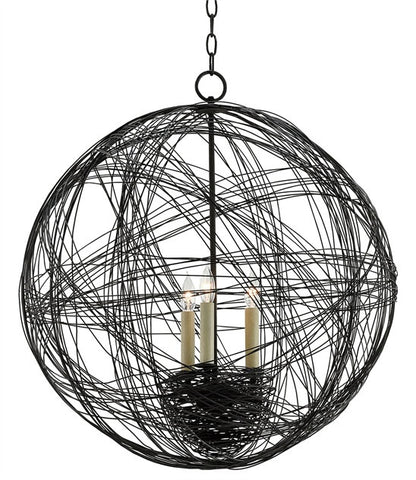 Nido Orb Chandelier Wrought iron Next like Globe 9000-0028