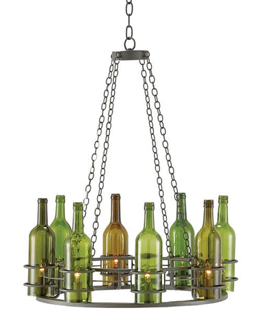 Cin Cin Chandelier One of a Kind Wine Bottle Chandelier 9000-0112