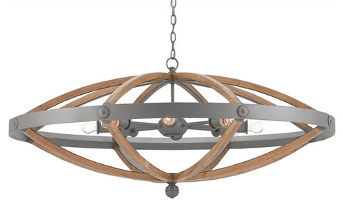 HighBank Circle Chandelier- Currey & Co 9000-0202