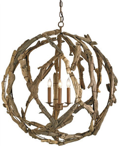 Driftwood Orb Chandelier 9078