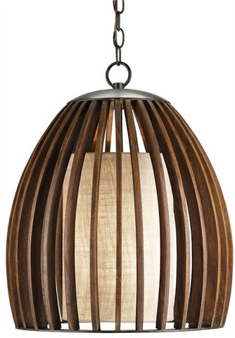Contemporary Carling Pendant with Burlap shade 9099 - Currey & Co.