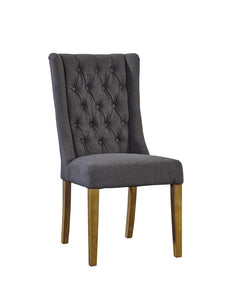 Barrington Dining Chair - Tufted Grey - Rustic Edge