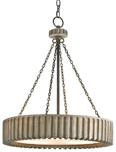 Greyledge Chandelier Wooden Gear Pendant 9326