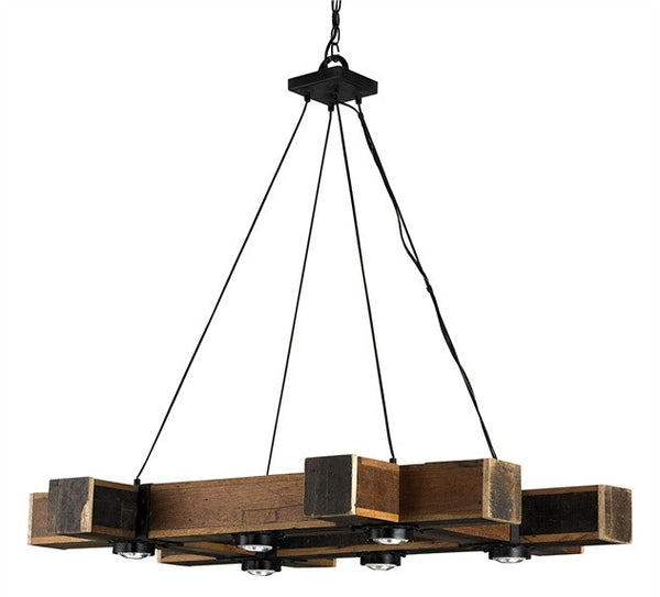 Dockyard Chandelier Reclaimed wood 9429