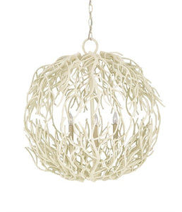 Eventide Sphere Chandelier White Wash Branch 9501