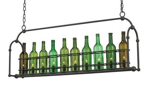 Cin Cin Rectangle Chandelier One of a Kind Wine Bottle 9724