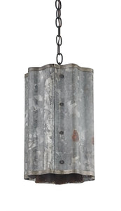Frontier Pendant Industrial Galvanized Sheet Metal Farmhouse Style 9739