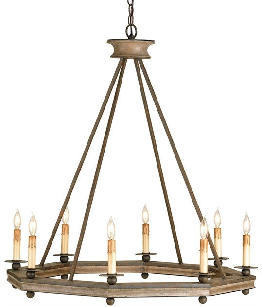 Bonfire Chandelier Rustic Octagon Modern Lodge Style 9799 - Rustic Edge