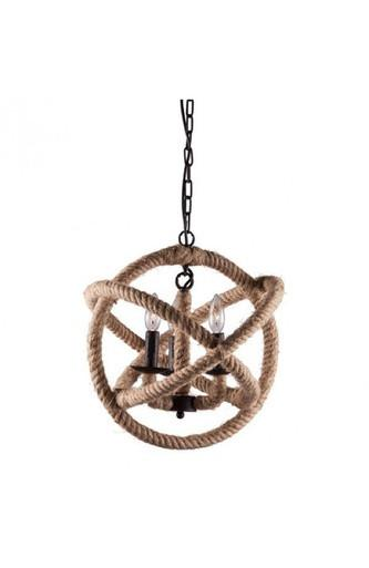 Becker Nautical Rope Chandelier ZU7945 - Rustic Edge