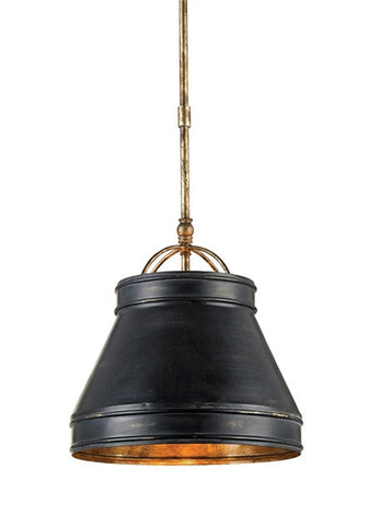 Lumley Pendant Industrial Black Wrought Iron Shade 9868