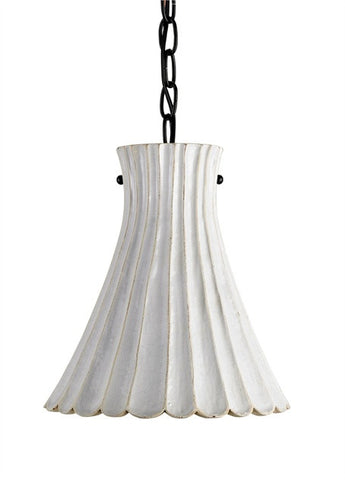 Jazz Pendant White Wash flare 9901