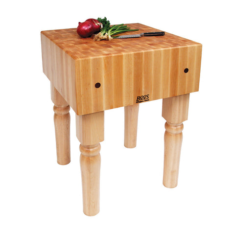 "John Boos AB 10"" Maple Butcher Block Table/Island 18"" x 18"" x 34"""