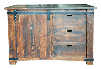 "Million Dollar Rustic 50""/60""/70"" Barn Door Buffet 03-2-15W-113"