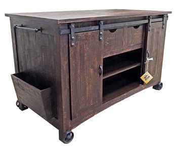 Million Dollar Rustic Barn Door Buffet w/Stools 11-2-15W-101