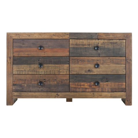 Judith 6 Drawer Reclaimed Pine Dresser