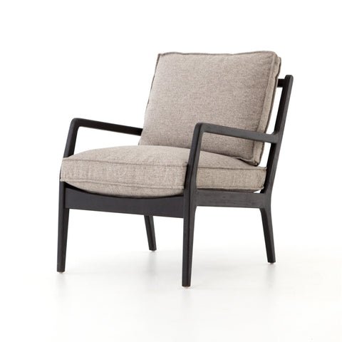 NORWAY OCCASIONAL CHAIR, Orly Natural, Black Oak