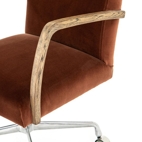 Outstanding Brindley Desk Chair Burnt Auburn Squirreltailoven Fun Painted Chair Ideas Images Squirreltailovenorg