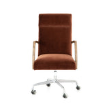 Brindley Desk Chair - Burnt Auburn - Rustic Edge