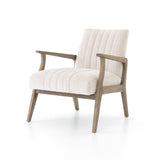 Burtman Accent Arm Chair - Natural White - Rustic Edge