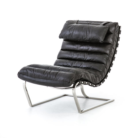 Wynd Lounge Chair - Distressed Black