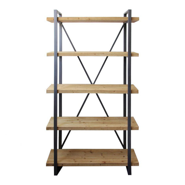 lexington-5-level-industrial-book-shelf-natural