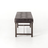 Arion Bench - Ebony Black - Rustic Edge