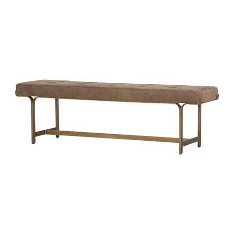 LINDSEY BENCH, UMBER GREY