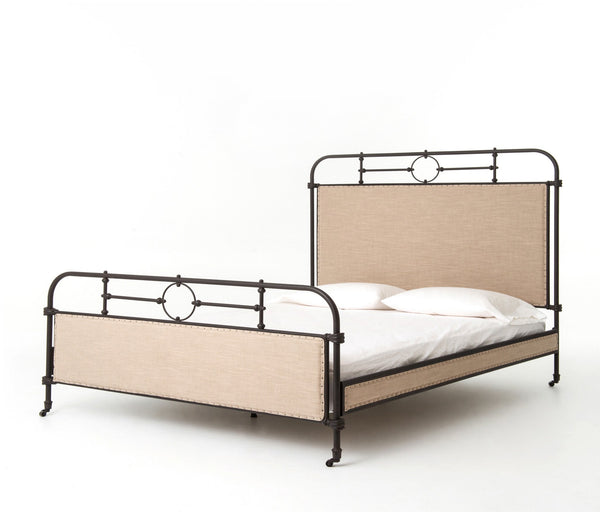 Bernon Metal Bed - Rustic Edge