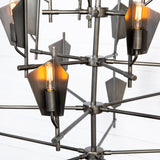 Gazelle Steel Chandelier - Brushed Pewter