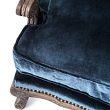BOUTIQUE ACCENT CHAIR-CUT BLUE PILE - Rustic Edge