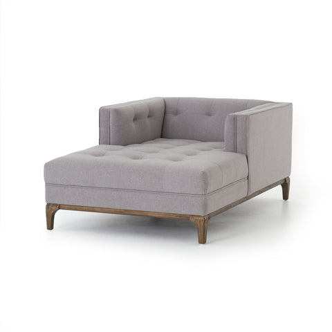 Denley Mid-Century Chaise - Heather Grey
