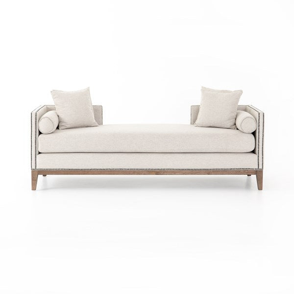Mella Double Chaise - Platinum Cream