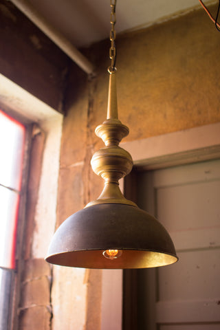 Kalalou Metal Pendant Light w/Antique Gold Finish-Medium CLL1288