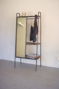 Jerry Slanted Storage Unit with Mirror