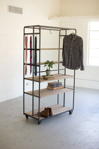 Ryan Industrial Raw Metal Rolling Closet