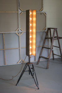 Kalalou Caged Vertical MARQUEE Studio Lamp CQ6782