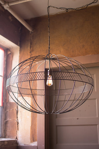 Kalalou Large Wire Ellipsoid Pendant Light CQ6869