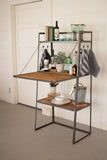 Kalalou Honey Wood & Metal Bar w/fold down wooden door CQ7081 - Houzz