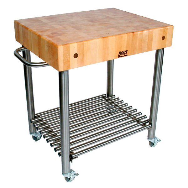"John Boos 5"" Butcher Block Cucina D'Amico Stainless Steel Work Island"